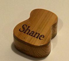 Made to order Wooden Guitar Pick Box  Cedar & by MemorableTimbers