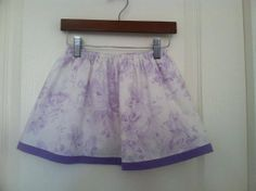 Lavender Shabby Chic Floral Twirl Skirt  3T  Ready by IzettaJane, $16.00