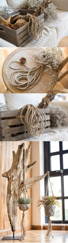 DIY, Natural hemp rope, Decor