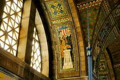 Nebraska Capitol Building. The foyer. The mosaics were done by Hildreth Meiere.