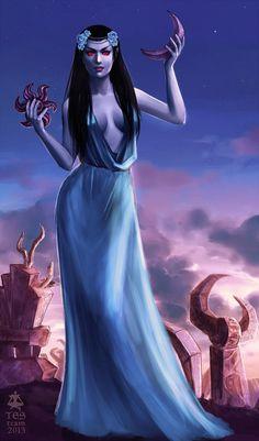 The Elder Scrolls,фэндомы,TES art,azura,Азура,TES Персонажи,Лорды Даэдра