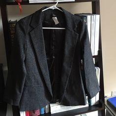 Aqua gray blazer Xsmall Aqua gray blazer. 3/4 sleeve. Fits true to size Aqua Jackets & Coats Blazers
