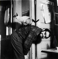 Another Allen Ginsberg shot with kitty