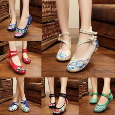 Find More Women's Flats Information about Newest style Old Peking Women's Shoes Chinese Flat Heel With Flower Embroidery Comfortable Soft Canvas Shoes Plus Size 41,High Quality heels shoes fashion,China shoes reef Suppliers, Cheap heel cups for shoes from Crazy In Thai on Aliexpress.com