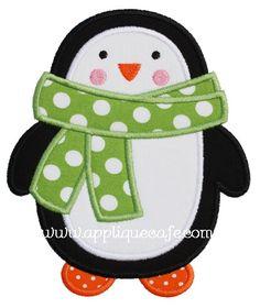 """Penguin Applique Design Sizes include: 4x4 hoop (3.29"""" x 3.89"""") 5x7 hoop (4.90"""" x 5.81"""") 6x10 hoop (5.90"""" x 7.00"""")"""
