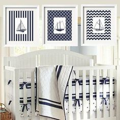 Nautical Nursery - Love! @Laura Jayson Jayson Jayson Schroeder your little kid needs this one day!!