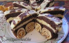 Bicikli sütemény recept kránicz györgyi konyhájából - Receptneked.hu Hungarian Desserts, Hungarian Recipes, Fancy Desserts, Sweet And Salty, Cakes And More, Cake Cookies, Nutella, Fudge, Dessert Recipes