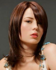 Omuz Hizasında/Omuz boyunda kadın saç kesim modelleri 2014-2015, saçlarını toplayamayan gelinlere önerilir