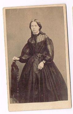 """Unidentified CDV with sheer bodice, ca. 1863. via eBay."""