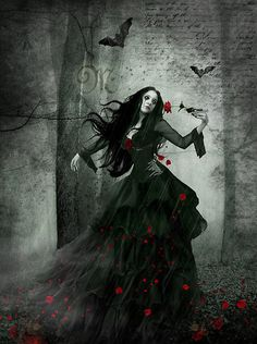 """sorrowfulkain:    """"Pluck out mine eyes, hasten, attest Blind reason against thee, Enchantress For I must know, art thou not death? My heart echoes bloodless and incensed."""" - Cradle Of Filth, A Gothic Romance ( Red Roses For The Devil's Whore )"""