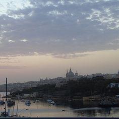 Sunrise over Valletta