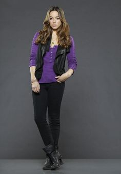 Chloe Bennet in a Purple Butto is listed (or ranked) 9 on the list The Hottest Chloe Bennet Photos
