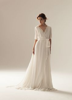 Wonderful Perfect Wedding Dress For The Bride Ideas. Ineffable Perfect Wedding Dress For The Bride Ideas. Sexy Wedding Dresses, Bridal Dresses, Wedding Gowns, Wrap Wedding Dress, British Wedding Dresses, Plain Wedding Dress, Modest Wedding, Event Dresses, Maternity Wedding Dresses