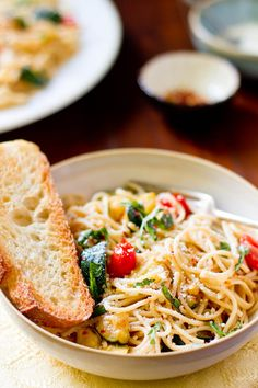 Simple summer spaghetti with grilled zucchini.    Rikki Snyder
