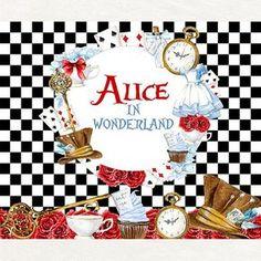 Printable Alice in Wonderland Backdrop Alice in Wonderland