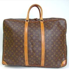 7387d58036b8 Louis Vuitton Sirius Suitcase Monogram Canvas and Leather Weekend Travel Bag.  Save 71%