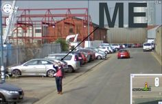 The day I found myself on Google Street View.  High 5!
