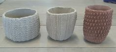 How to : Kate Ward: Knitted ceramic cups