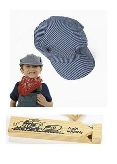 Childs Cotton Train Conductor Hats dz)- party favor for kids