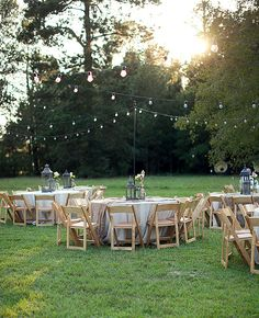 I can soo see this in Randy and Rose's big back yard....love the lights, and maybe some hanging pompoms and lanterns.