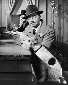 """William Powell and Asta """"Song of the Thin Man"""" - 1947"""
