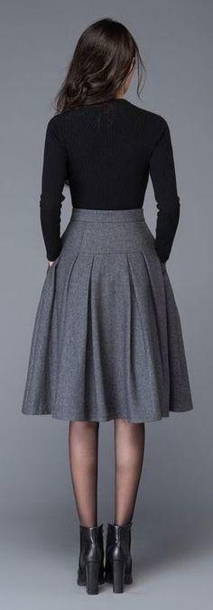 - Curating Fashion â–¶ Minimalist â–¶ Urban â–¶ Work wear. Winter Fashion Outfits, Modest Fashion, Fashion Dresses, Skirt Outfits, Dress Skirt, Virtual Fashion, Classy Outfits, Work Wear, Designer Dresses