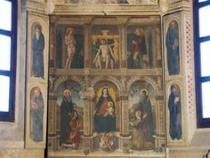 Milan (Italy) - Polyptic by Montorfano in the Obiano Chapel in the Church of San Pietro in Gessate