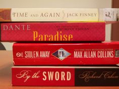Time and Again/Paradise/Stolen Away/By the Sword.  Mark's thoughtful book spine poem!