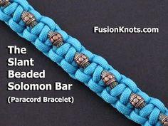How to Make an Asymmetric Border Bar (Paracord) Bracelet by TIAT - YouTube