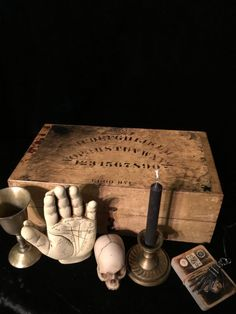 Antique Fortune Teller's Palmistry Box with by GothicRoseAntiques