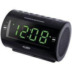 Jensen Am And Fm Dual-alarm Clock Radio