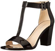 Nine West Women's Brannah Leather Dress Pump * Review more details here : Block heel sandals