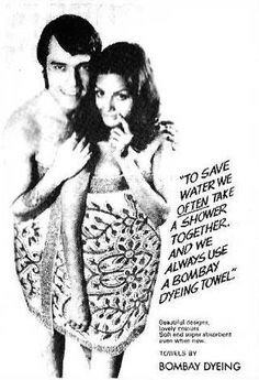 #SharmilaTagore in bombay dyeing #advertisement #bollywoodirect #bollywood #herione #actress #rare
