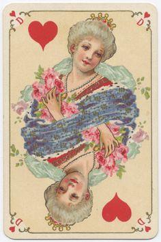 Игральные карты в стиле рококо (французская версия) Фабрика Grimaud(Франция), около 1890 года. Collage Drawing, Sketch Painting, Vintage Playing Cards, Vintage Greeting Cards, Printable Playing Cards, Hearts Playing Cards, Tarot, Queen Of Hearts, Deck Of Cards