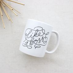 like a boss coffee mug // Saffron Avenue Shop