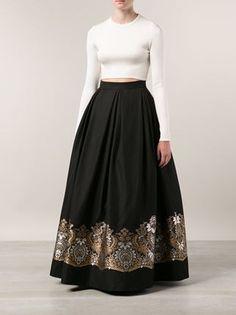 Martin Grant long  printed skirt