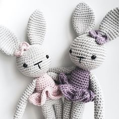 Crochet bunnies ballerinas https://www.instagram.com/katiu/