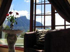 Gorgeous views and plenty of luxury characterise Harfield Guest Villa, Constantia, Cape Town. Cape Town, Villa, Windows, Curtains, Luxury, Places, Home Decor, Blinds, Decoration Home