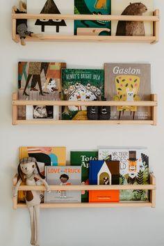 Fresh 48 session and sweet modern boy's nursery is part of Modern boy nursery - Modern Boys Rooms, Nursery Bookshelf, Ikea Kids Bookshelf, Baby Boy Nurseries, Modern Nurseries, Nursery Decor, Project Nursery, Nursery Ideas, Nursery Boy
