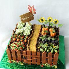 Geschenkideen Klassenkameraden Are You Addicted to Your Children? Beautiful Cakes, Amazing Cakes, Allotment Cake, Vegetable Garden Cake, Cake Cookies, Cupcake Cakes, Garden Cupcakes, Cake Icing, Cake Decorating Techniques
