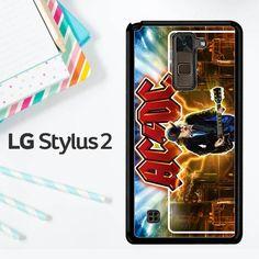 Acdc Logo Wallpaper Y1485 LG Stylus 2 / LG Stylo 2 Case