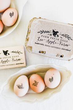 Custom Egg Carton Stamp Set — boxwood avenue