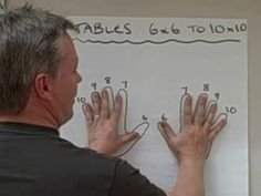 WHOA... I don't how this guy figured this out, but he is a genius.  Trick to multiplication tables 6X6 and above. - I knew the 9's trick, but have never seen this one before!