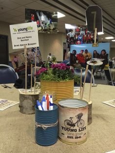 Young Life Locally Grown Banquet centerpiece