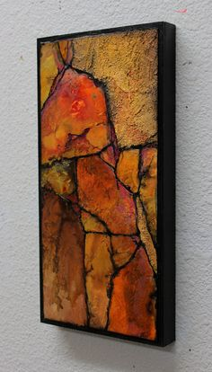 """""""Painted Cliff"""" by Carol Nelson I am liking painting on watercolor paper and then mounting on a wood panel. Landscape Artwork, Abstract Landscape, Abstract Art, Texture Painting On Canvas, Canvas Art, Navajo Art, Blog Art, Art Du Monde, Keramik Design"""