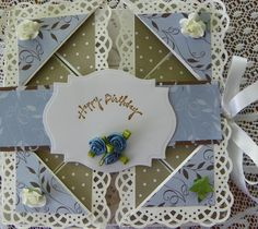 birthday napkin fold card - Scrapbook.com