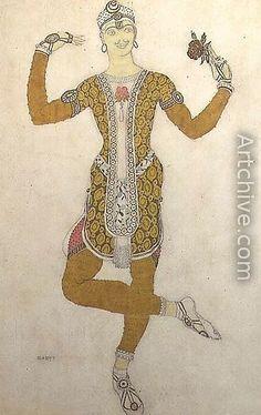 "Lev Bakst. Sketch for Nijinsky as The prince in ""Le Festin"""