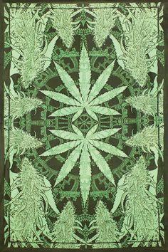 Hempest Pot feuille tapisserie 60 x 90 Cannabis par BostonHolistics