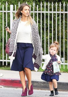 The Foolproof Mom Wardrobe: A Jessica Alba Case Study via @WhoWhatWear