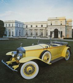 Gatsby Rolls in front of Gatsby mansion, 1974